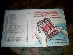 Buvard Publicitaire Chicoree Leroux Superchicoree - C