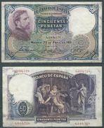 ESPAGNE SPANIEN SPAIN ESPAÑA 1931 24 DE ABRIL ROSALES 50 PTAS 2ª REPÚBLICA - [ 3] 1936-1975 : Regime Di Franco