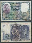 ESPAGNE SPANIEN SPAIN ESPAÑA 1931 24 DE ABRIL ROSALES 50 PTAS 2ª REPÚBLICA - [ 3] 1936-1975 : Regency Of Franco