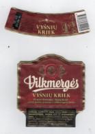 Lithuania Litauen Vilkmerges  Vysniu Kriek   Beer Labels - Bière