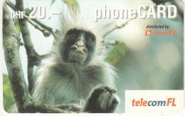 LIECHTENSTEIN - Monkey, Telecom FL Prepaid Card CHF 20, Exp.date 02/05, Used - Liechtenstein