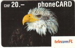 LIECHTENSTEIN - Eagle, Telecom FL Prepaid Card CHF 20, Exp.date 02/05, Used - Liechtenstein