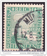 Germany -1925, Eagle Watching Rhine Valley, 5pf, Used - Germany