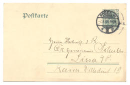 GS Postkarte Posen 1909 Nach Lissa - Ganzsachen