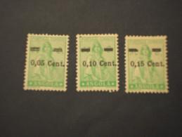 ANGOLA - 1938 CERES 3 Valori, Soprast. - NUOVI(++) - Angola