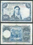 ESPAGNE SPANIEN SPAIN ESPAÑA 1954 22 DE JULIO ZULOAGA 500 PTAS - [ 3] 1936-1975: Regime Van Franco