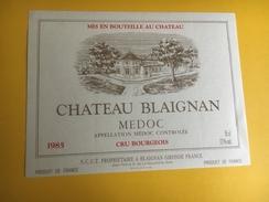 2482 - Château Blaignan 1985 Médoc - Bordeaux