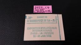 Carnet N° 2155-C4 Avec Coin Datée 31.8.81 Neuf ** à 20% De La Cote  TB - Carnets