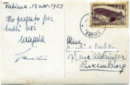 PORTUGAL  Postcard FATIMA Nossa Senhora  Centenario Ministerio Obras Publicas 1,40  Estadio De Braga - Marcophilie