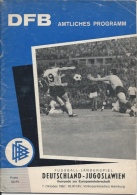 Sport Programme PR000010 - Football (Soccer / Calcio) Germany Vs Yugoslavia: 1967-10-07 - Programs