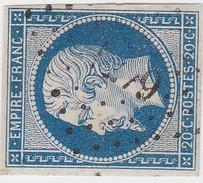 N°  14 Af Bleu Laiteux  /  PC  1279    FLAVIGNY-SUR-OZERAIN   /  COTE D' OR     LOT  9916 - 1853-1860 Napoleon III