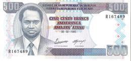 Burundi - Pick 37A - 500 Francs 1995 - Unc - Burundi