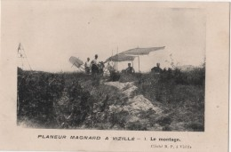 CPA 38 VIZILLE Aviation PLANEUR MAGNARD - Vizille