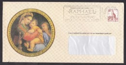 Germany: Cover, 1984, 1 Stamp, Cancel 500th Birthday Raphael, Painter, Art (traces Of Use) - [7] West-Duitsland