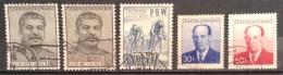 Czechoslovakia  Used (o)  1953 - # 605/606 588 581 - Czechoslovakia