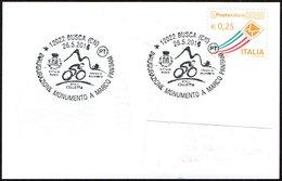 CYCLING - ITALIA BUSCA (CN) 2016 - INAUGURAZIONE MONUMENTO A MARCO PANTANI - SMALL SIZE CARD - Ciclismo