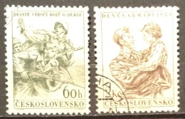 Czechoslovakia  Used (o)  1954 - # 679/680 - Czechoslovakia