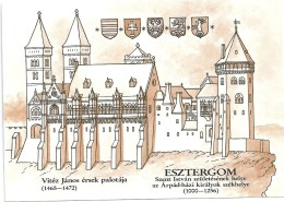 0565 Hungary Postcard Arcitecture History Cathedral Esztergom Unused - Kirchen U. Kathedralen
