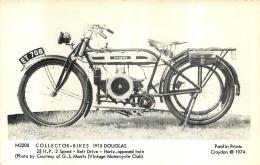 MOTOCYCLETTES COLLECTOR BIKES 1913 DOUGLAS - Motos