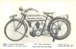 MOTOCYCLETTES COLLECTOR BIKES 1914  550CC TRIUMPH - Motos