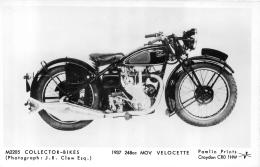 MOTOCYCLETTES COLLECTOR BIKES  1937 248CC MOV VELOCETTE - Motos