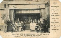 MEZIERES SELECT BAR RESTAURANT MAISON LEON HUDREAUX  44 FAUBOURG D'ARCHES - Charleville