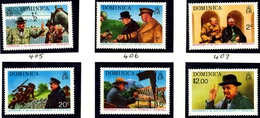 Dominica 1974 Set # 405-410 Churchill Years MNH SG 434/9 - Sir Winston Churchill
