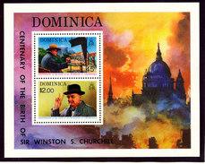Dominica 1974 Mini Perf Sheet # 410A Churchill Painting, St. Paul's London MNH - Sir Winston Churchill