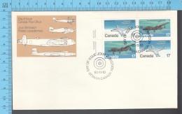 Canada - 1980block LR Scott #873-74-74-73, Militay Aircraft, Fancy Cancelation - Militaria
