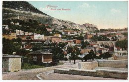 GIBRALTAR - ROSIA AND BARRACKS - Gibilterra