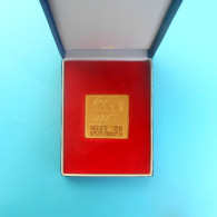 MIST '96. - Table Tennis Tournament * Croatian Gold Plated Plaque In Original Box* Tischtennis Tennis De Table Ping Pong - Tischtennis