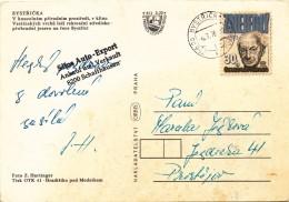 L0650 - Czechoslovakia (1978) 756 26 Bystricka - Prehrada (= Bystricka - Dam); Postcard: Bystricka, Dam; Tariff: 30 H