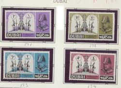 DUBAI 1966 PERF Singles X 4 White Border In Memory Of Winston Churchill Portrait And Catafalque  MNH # 171-174 - Sir Winston Churchill