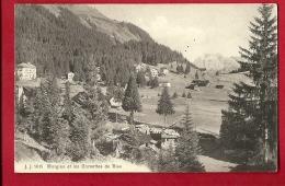 FIW-28  Morgins Et Les Cornettes De Bise, Chalets. Cachet 1913. Jullien 9015 - VS Valais