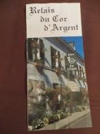 Berry - Dépliant Touristique Hôtel Restaurant Du Cor D' Argent - 18410 Argent Sur Saudre - Avec Mini Carte Géographique - Reiseprospekte