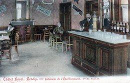 Cpa Renaix  Chalet  Royal Renaix. Interieur De L Etablissement. Pro.ed . Van.loo.(carte Ra.et Animee) - Belgique