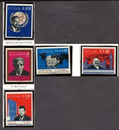 Ecuador  1966 Kennedy, Churchill, Schweitzer, Hammerskjold Famous People 5 PERF MNH - Sir Winston Churchill