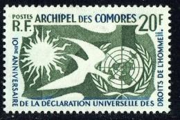 1958  10è Ann. Déclaration Des Droits De L'homme Yv 15* - Unused Stamps
