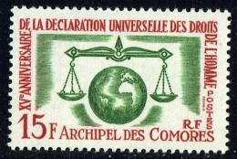 1963  15è Ann. Déclaration Des Droits De L'homme Yv 28 * - Unused Stamps