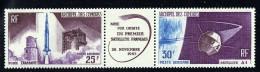 1965  Mise Sur Orbite De 1er Satellite Français  Triptyque  Yv PA 17A * - Unused Stamps