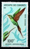 1967  Oiseau  Merlops Superciliosus  100 Fr Yv PA 21 * - Unused Stamps