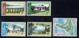 1972  Vues Et Carte D'Anjouan  Yv PA 45-9  * - Isla Comoro (1950-1975)