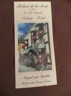 Berry - Dépliant Touristique Route  Jacques Coeur Relais De La Poste Auberge Hôtel  18  Argent Sur Saudre - - Reiseprospekte