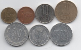 Roumanie : Série De 7 Pièces Courantes 1999-2011 - Roumanie