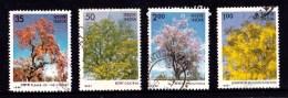 India 1981 Trees Set Of 4 Used - India