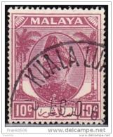 Malaya - Selangor 1949, 10c, Used - Selangor