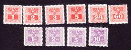 Austria, Scott #J175-J178, J182, J184-J188, Mint Hinged, Coat Of Arms, Issued 1945 - Postage Due