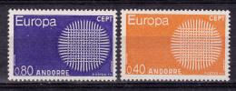 Andorra Andorre 1970 Europa CEPT Mi#222-223 Yvert#202-203 Mint Never Hinged