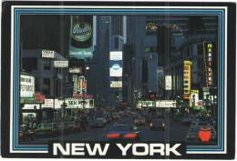 STATI UNITI - UNITED STATES - USA - US - 1989 - 25 North Dakota + 25 Bird - Time Square At Night New York City - Viag... - Time Square