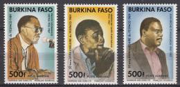 Burkina Faso 1989 Mi#1199-1201 Mint Never Hinged - Burkina Faso (1984-...)